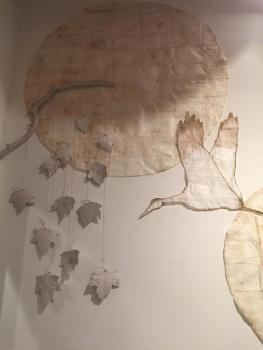 Studio wall study for future project - tea paper and velvet skinned leaves.jpg